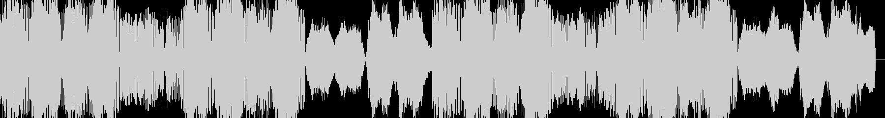 奇抜なドラムンベースのシンセトラックの未再生の波形