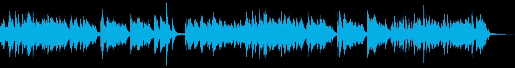 秋の風景や映像に。和風なソロピアノBGMの再生済みの波形