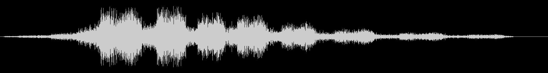 シュルシュルとロープを巻き取る音の未再生の波形