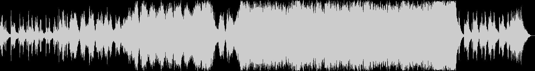 森の朝っぽいオーケストラとピアノの未再生の波形