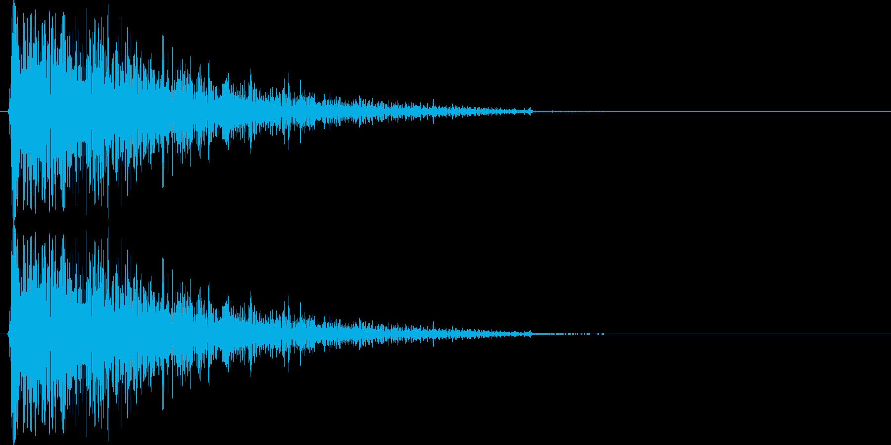 ファミコン風の爆発音ですの再生済みの波形