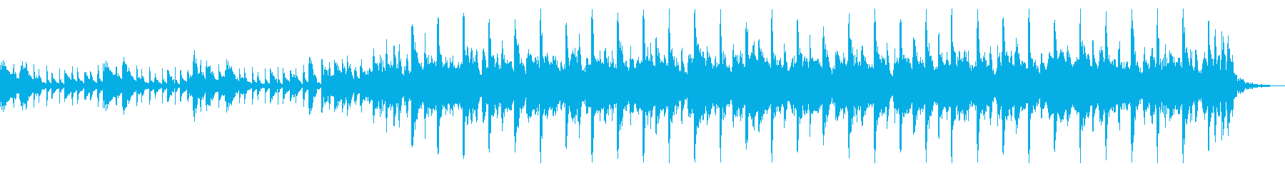 キラキラでかわいいアコギと鉄琴30秒版の再生済みの波形