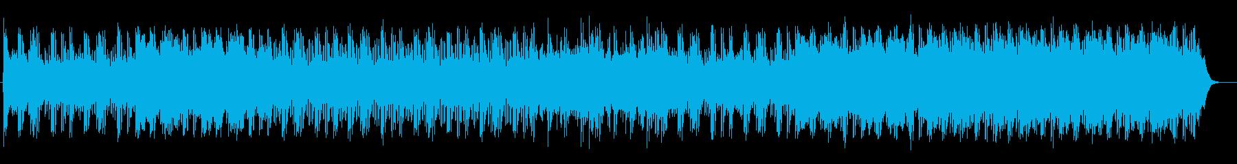 流れを感じるリラクゼーションミュージックの再生済みの波形