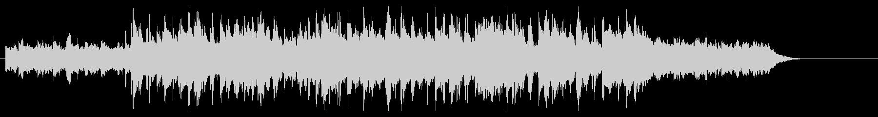 明るいシャッフルビートのピアノBGMの未再生の波形