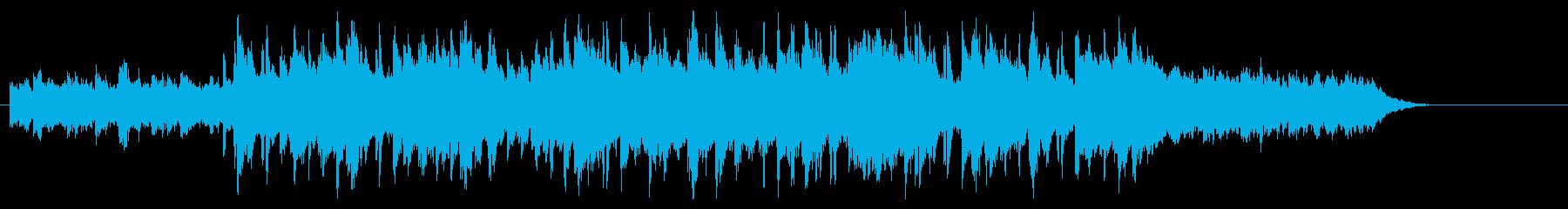 明るいシャッフルビートのピアノBGMの再生済みの波形