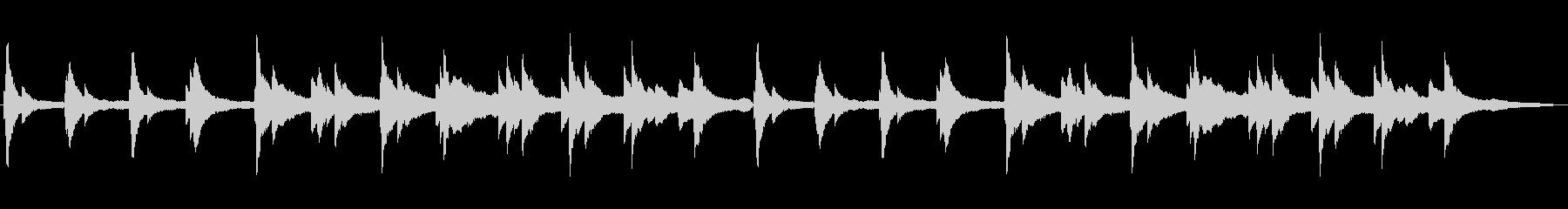 幻想的で静かなわびさびを感じるピアノソロの未再生の波形