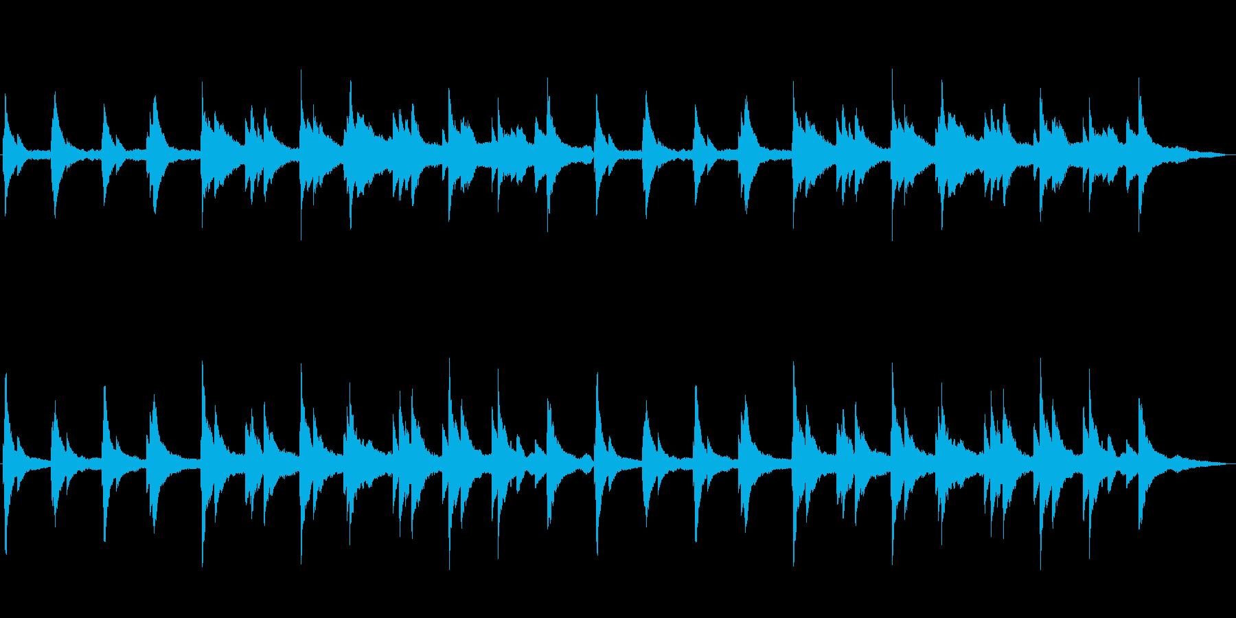 幻想的で静かなわびさびを感じるピアノソロの再生済みの波形