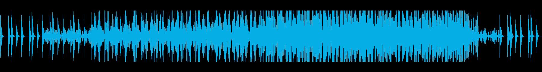 ふわふわした不思議なリズムピアノの曲の再生済みの波形