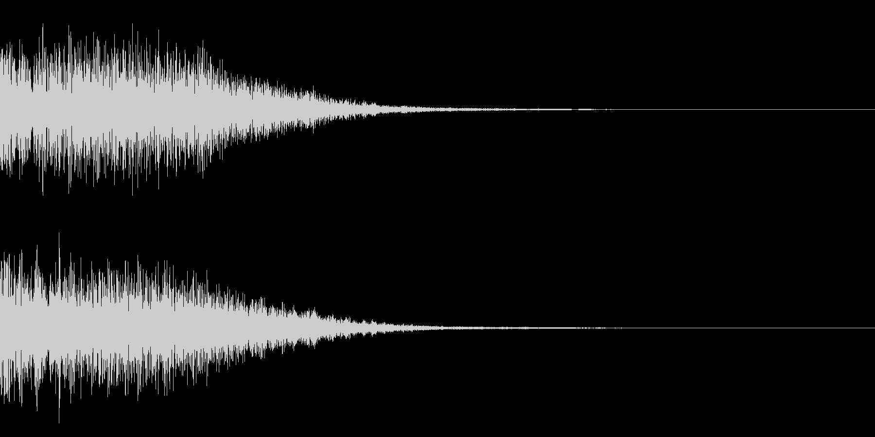 宇宙空間の爆発や警報の為の効果音の未再生の波形