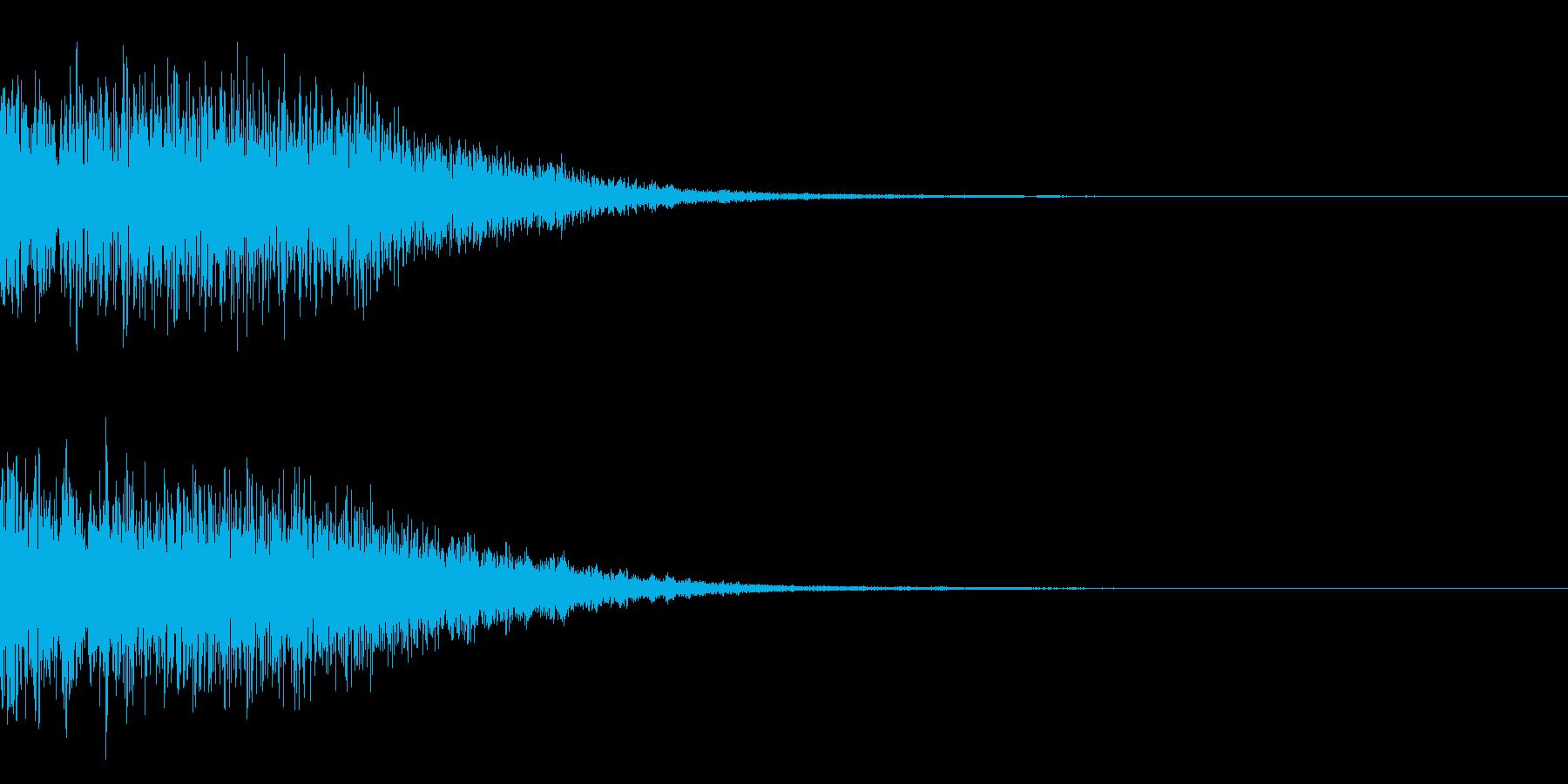 宇宙空間の爆発や警報の為の効果音の再生済みの波形