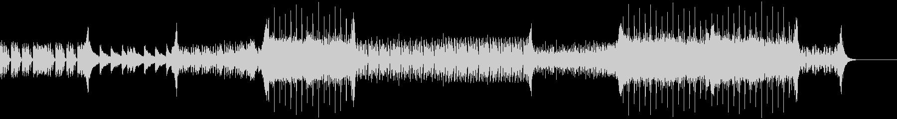 爽やかな曲調のEDMの未再生の波形