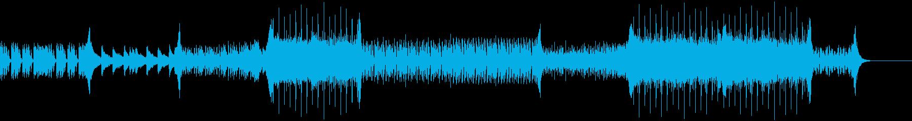爽やかな曲調のEDMの再生済みの波形