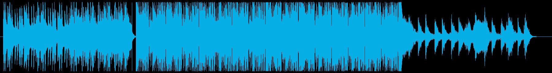 少し感動的なファンクの再生済みの波形