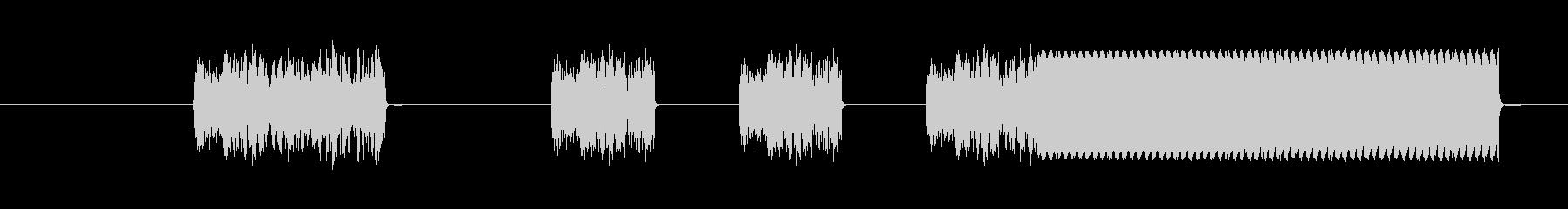 信号中断スイープ3の未再生の波形