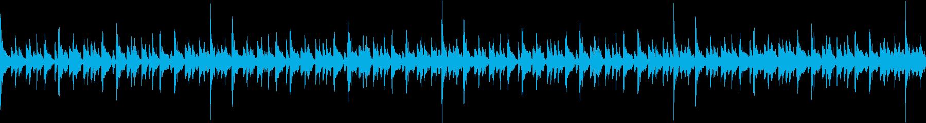 エレピソロで疾走感のある16ビートループの再生済みの波形