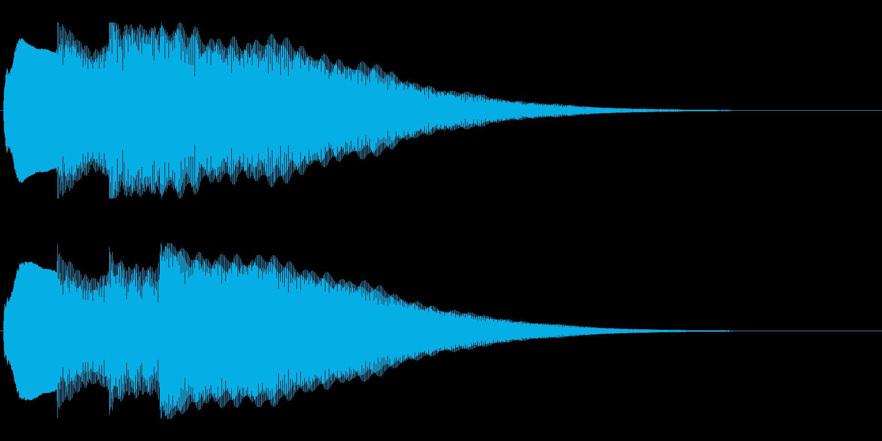 アナウンス前 チャイム-1_dryの再生済みの波形