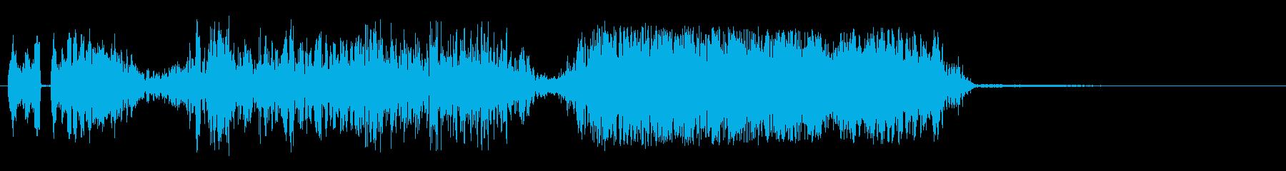 変動するスタッタースクリーチスイープの再生済みの波形