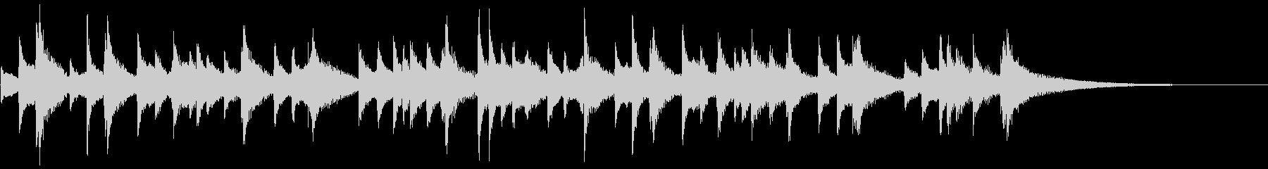 琴のシンプルな独奏の未再生の波形
