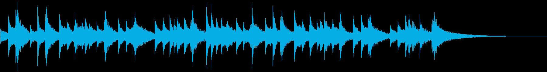 琴のシンプルな独奏の再生済みの波形