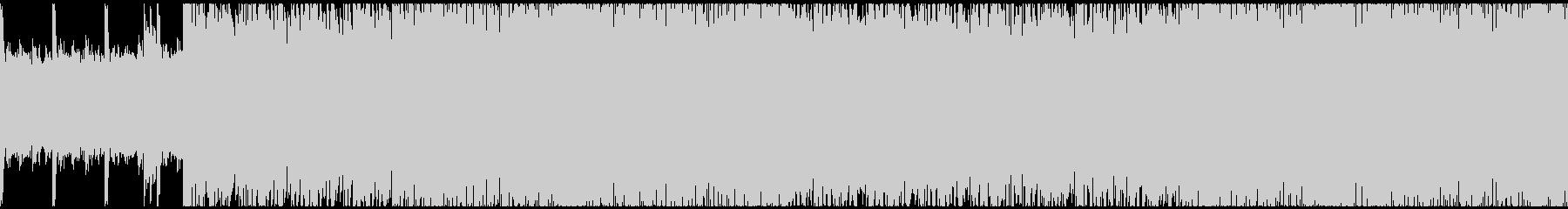 ヘヴィーなギターのループインストの未再生の波形