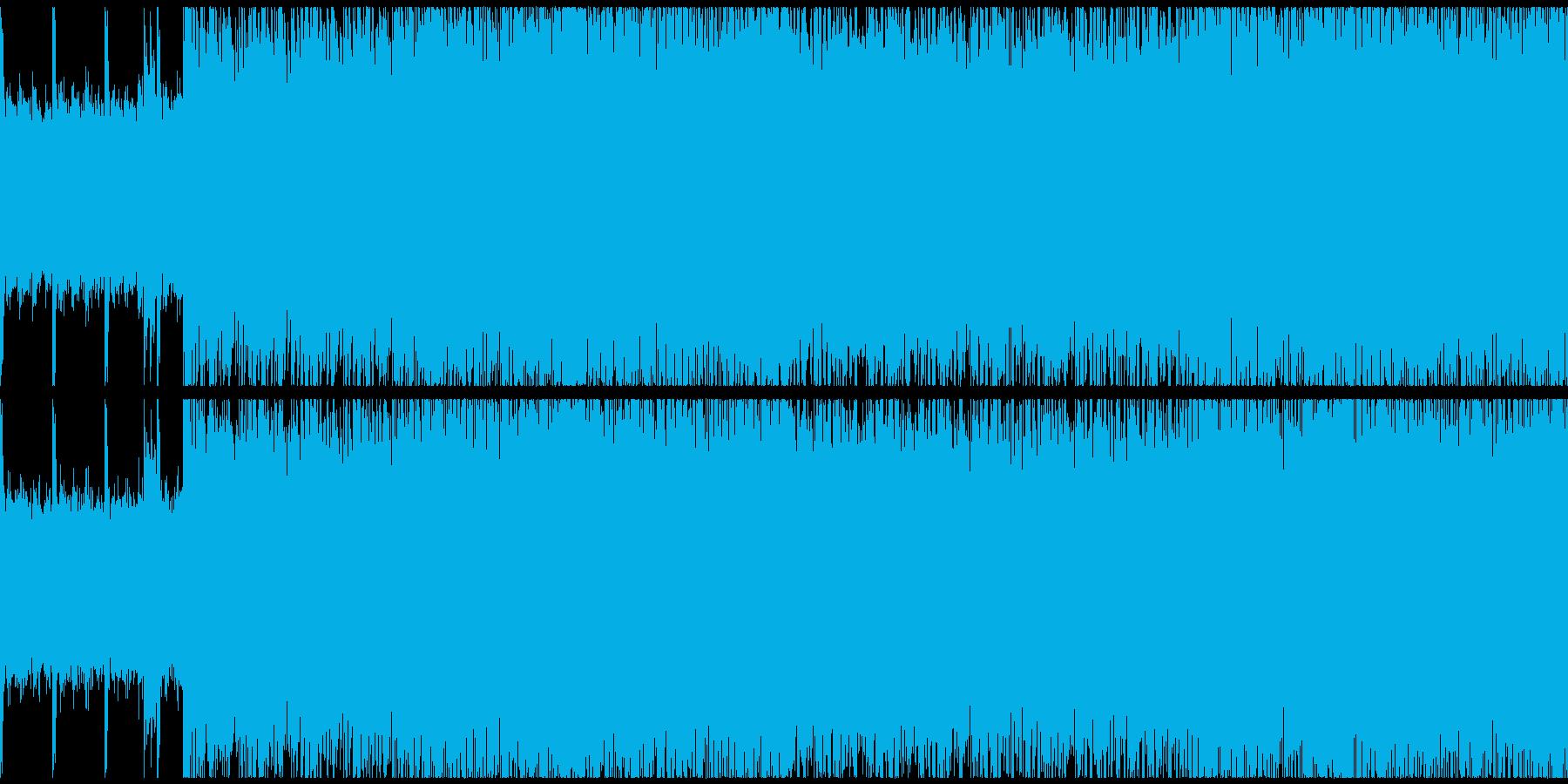 ヘヴィーなギターのループインストの再生済みの波形