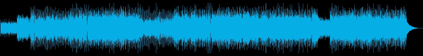 ほのぼのとしたカントリーポップBGMの再生済みの波形