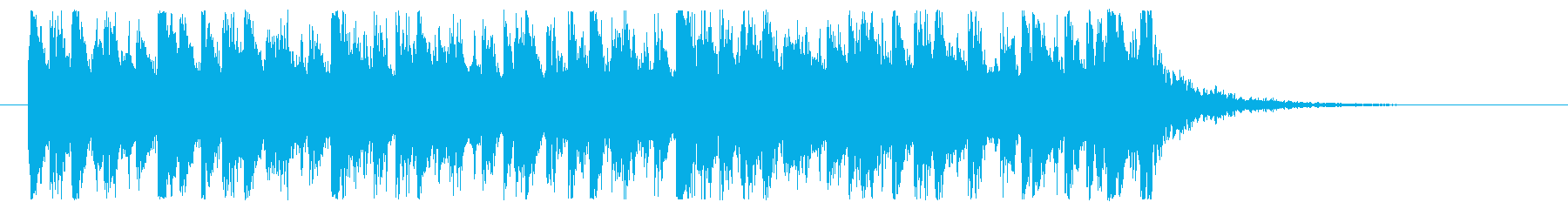 IT企業系アタックジングルの再生済みの波形