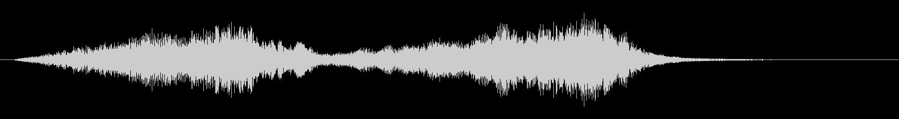 ストリングスによる爽やかなサウンドロゴの未再生の波形
