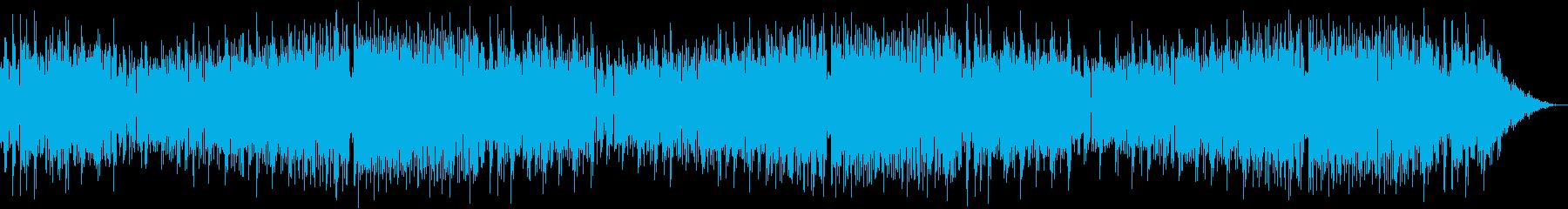クラシック調のEDM系音楽の再生済みの波形
