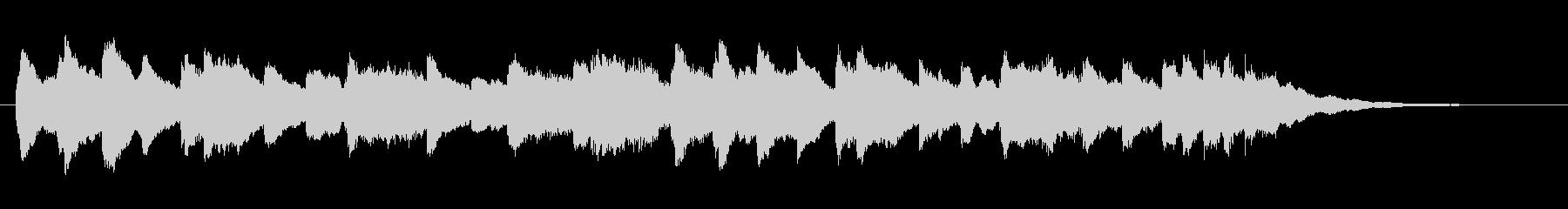 不気味なオルゴール調のジングルの未再生の波形