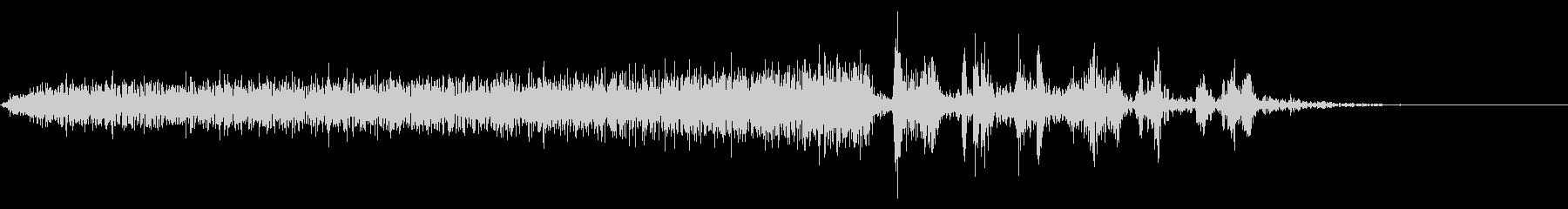 【生録音】本のページをめくる音 8の未再生の波形