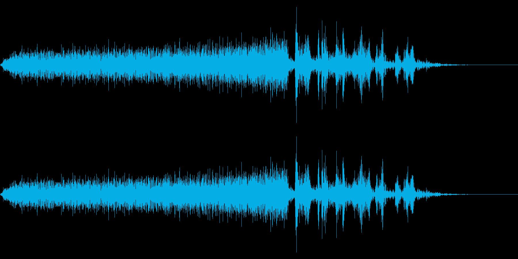 【生録音】本のページをめくる音 8の再生済みの波形