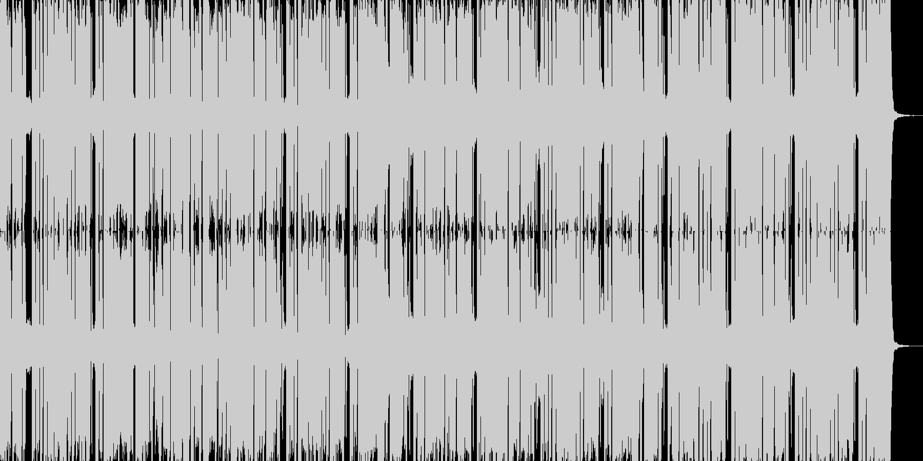 跳ねた感じのファンク調の曲です。よろし…の未再生の波形
