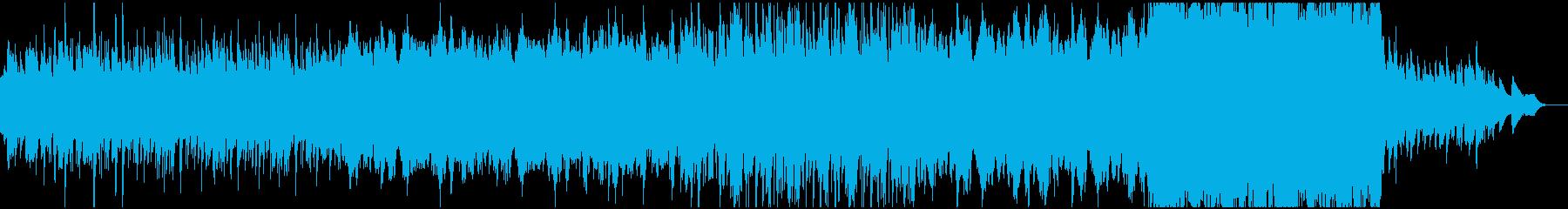 ハープと弦楽器による静かな夜想曲の再生済みの波形