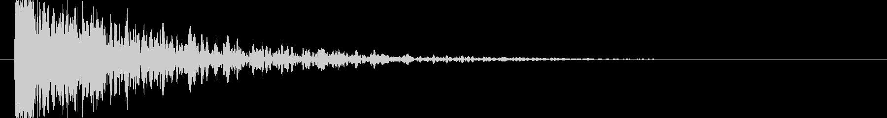 低音の衝突音の未再生の波形