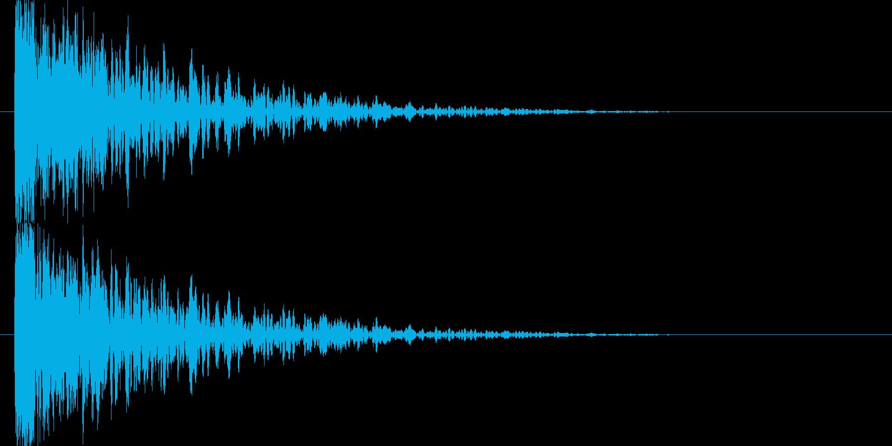 低音の衝突音の再生済みの波形
