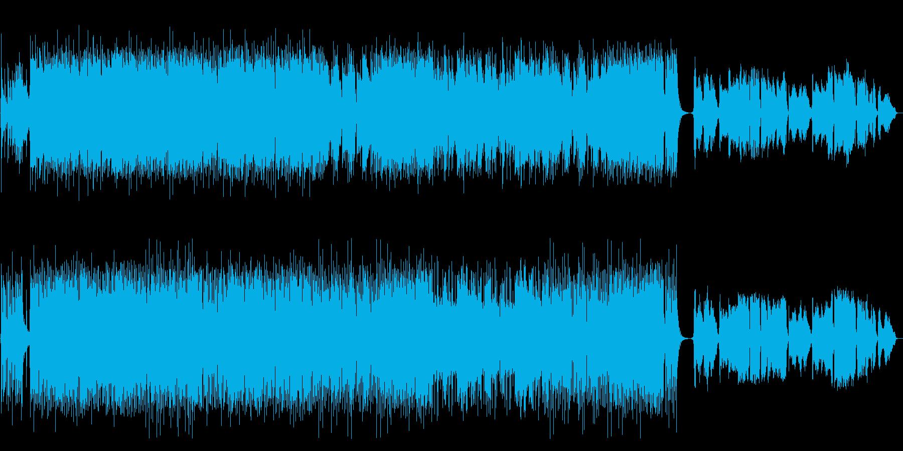 【生演奏尺八】躍動感、情熱的な和風。の再生済みの波形