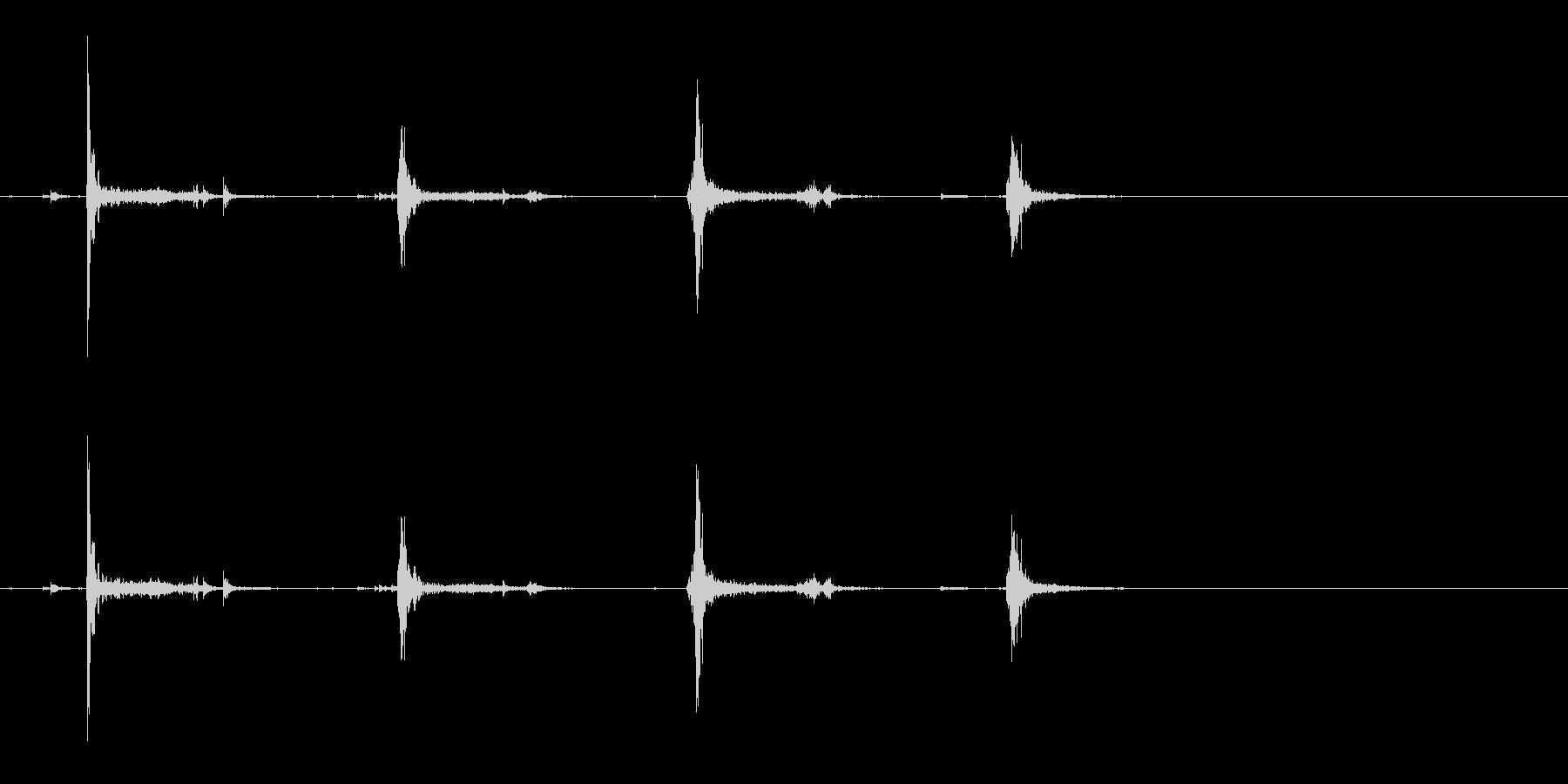[生録音]カードをシャッフルする02の未再生の波形