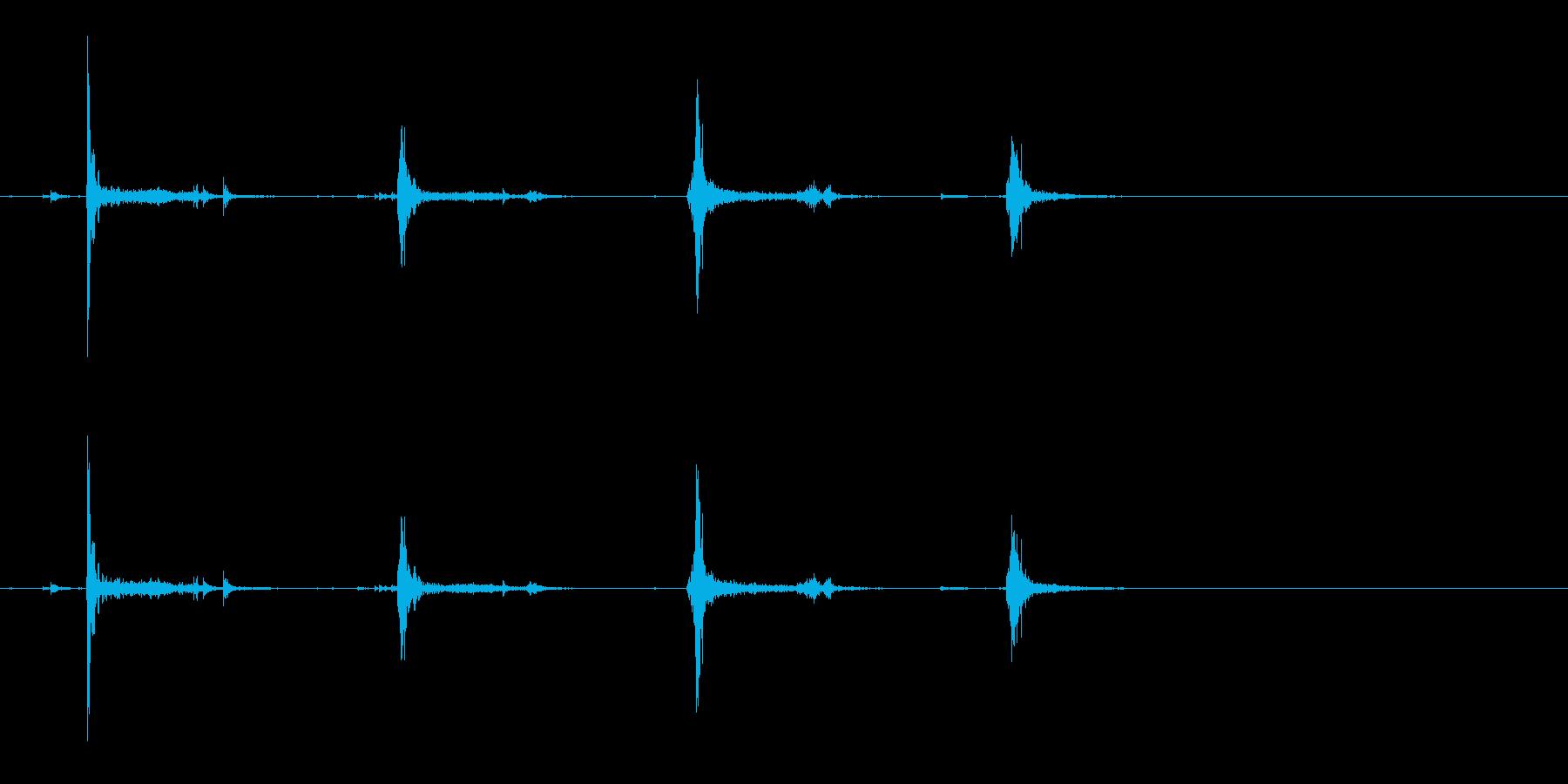 [生録音]カードをシャッフルする02の再生済みの波形