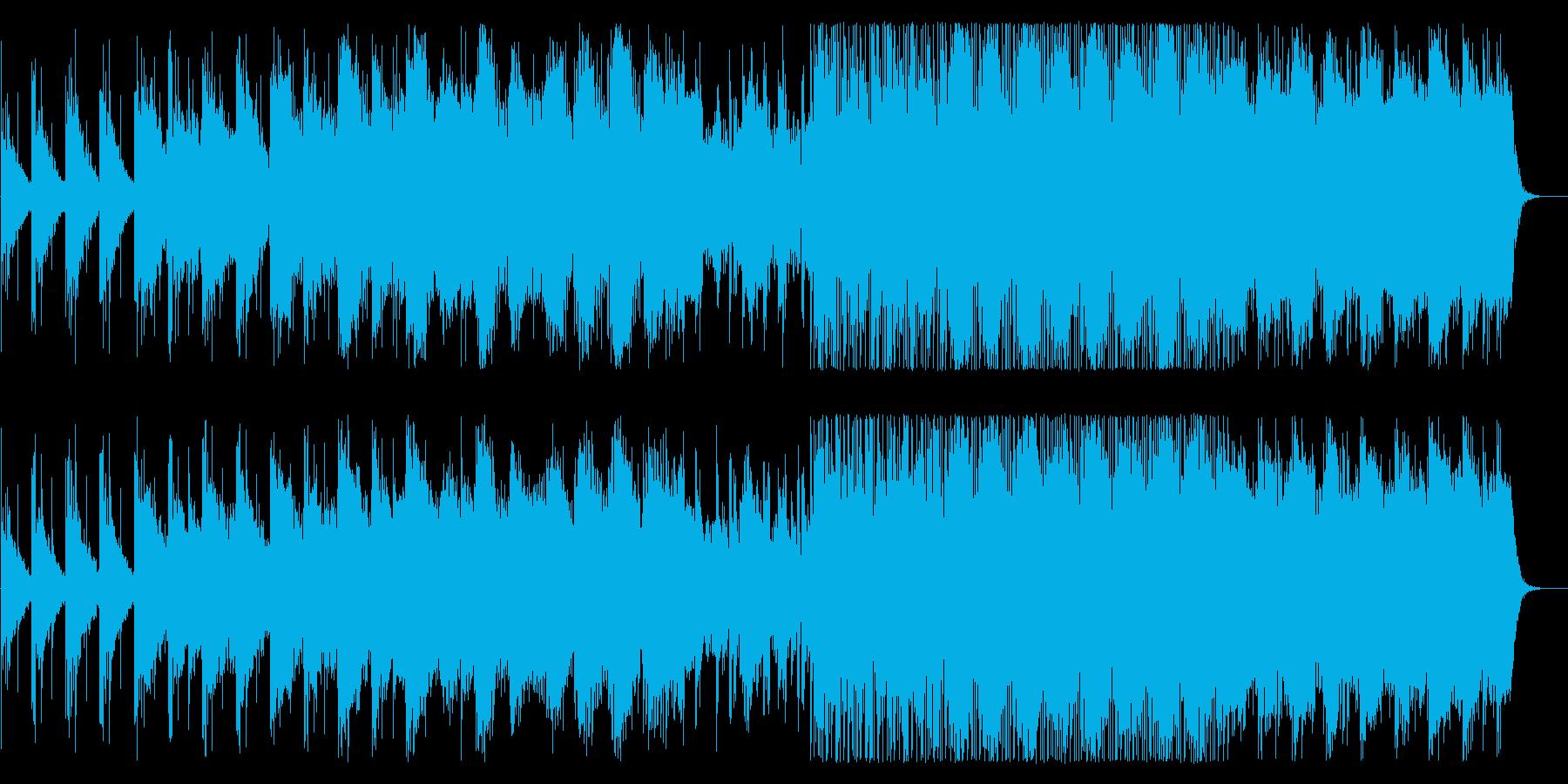 和風でスローだがファンキーに展開する曲の再生済みの波形