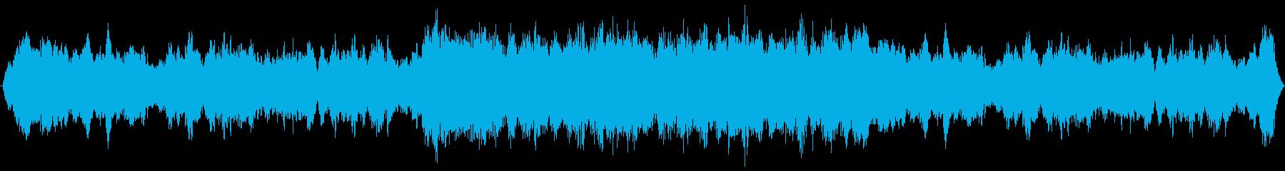アンビエント感のあるBGSの再生済みの波形