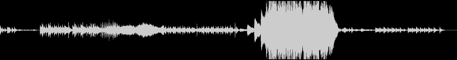 ホラー系のゲーム音楽の未再生の波形