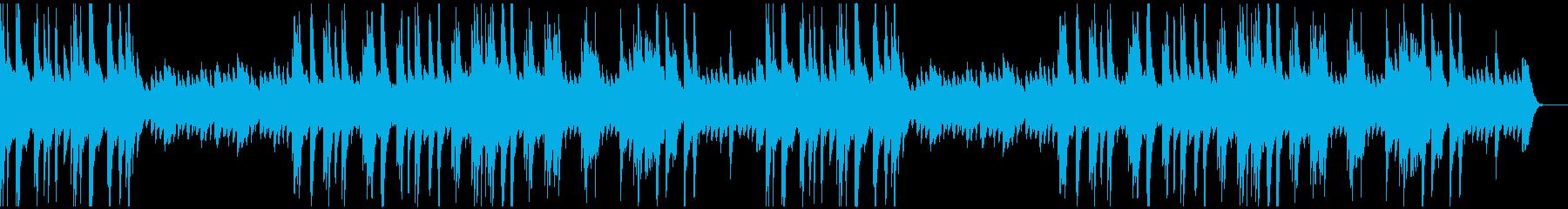 ゆったりと明るいソロ・ピアノ曲の再生済みの波形