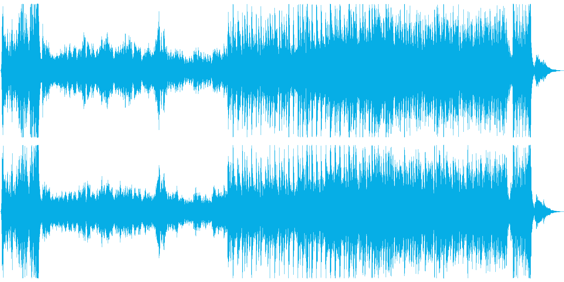 壮大なオーケストラ_ファンタジーの再生済みの波形