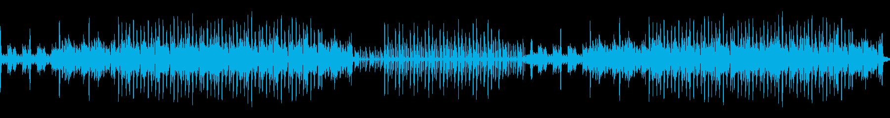 シンプルでダークなエレクトロニカ系BGMの再生済みの波形