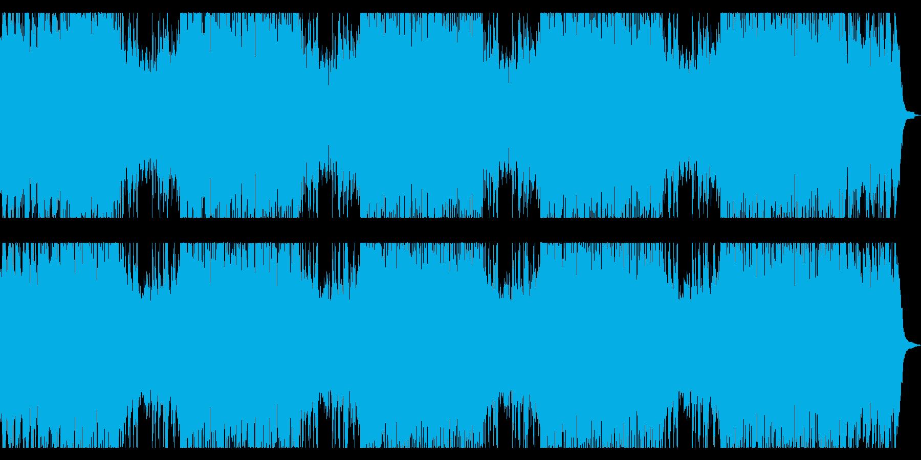 ピアノとチェロのアンビエント ロングの再生済みの波形