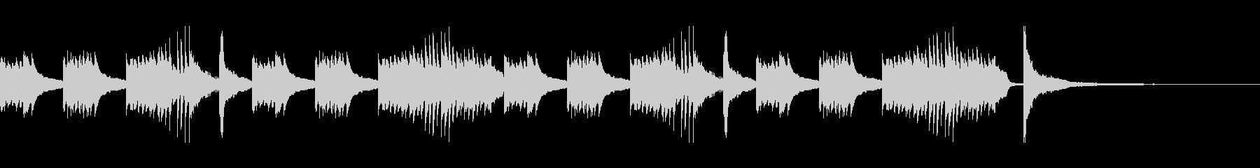 力強く透明感のあるピアノ曲の未再生の波形