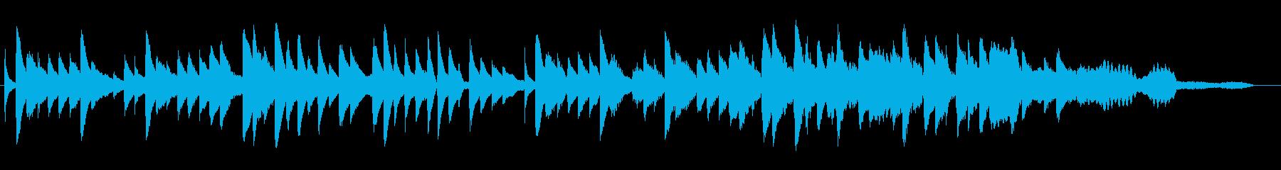 ゆったりとした静かなピアノ曲の再生済みの波形