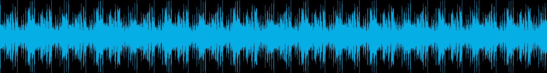ループ可能なラテン風音源の再生済みの波形