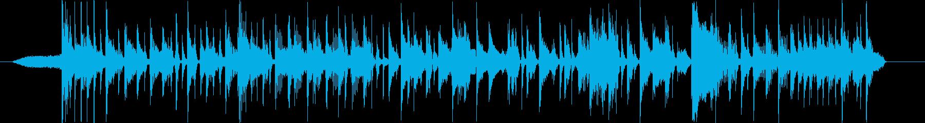 パンチのあるスラップベースの再生済みの波形
